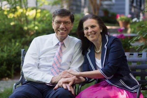 Christine Christensen and her husband Clayton Christensen